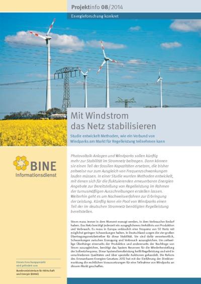 Mit Windstrom das Netz stabilisieren. Studie entwickelt Methoden, wie ein Verbund von Windparks am Markt für Regelleistung teilnehmen kann.