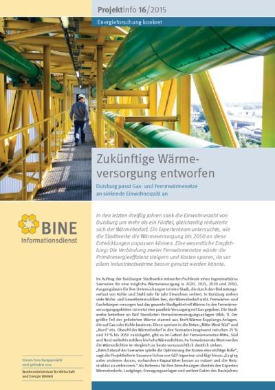 Zukünftige Wärmeversorgung entworfen. Duisburg passt Gas- und Fernmwärmenetze an sinkende Einwohnerzahl an.
