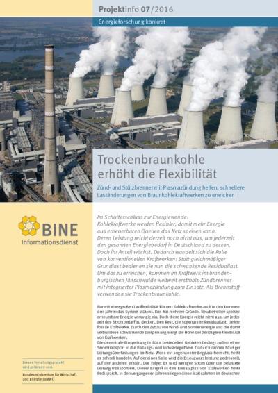 Trockenbraunkohle erhöht die Flexibilität. Zünd- und Stützbrenner mit Plasmazündung helfen, schnellere Laständerungen von Braunkohlekraftwerken zu erreichen.