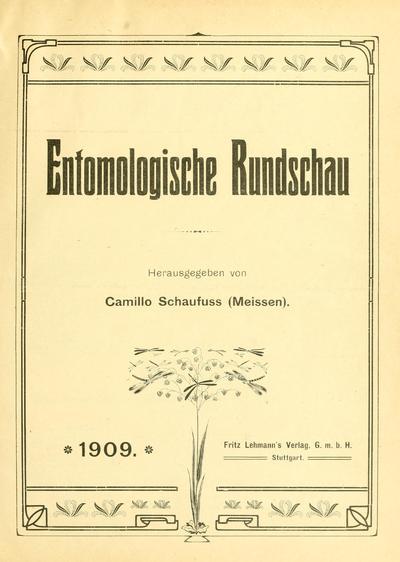 Entomologische Rundschau.