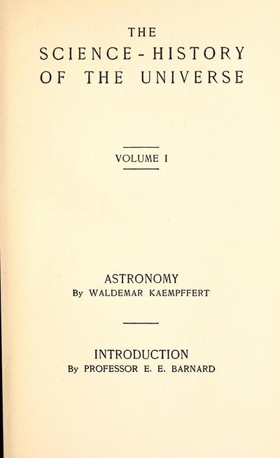 The science-history of the universe /