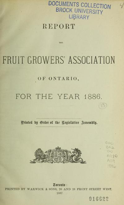 Report of the Entomological Society of Ontario for the year ...