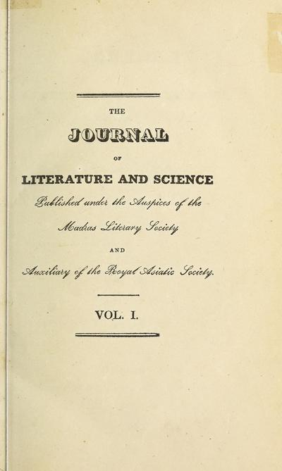 Madras J.Lit.& Sci.