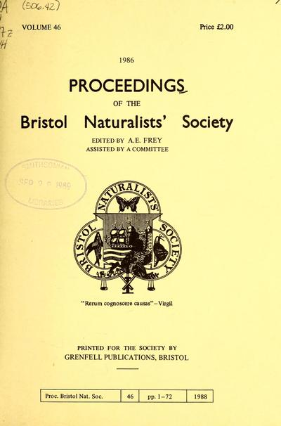 Proceedings of the Bristol Naturalists' Society