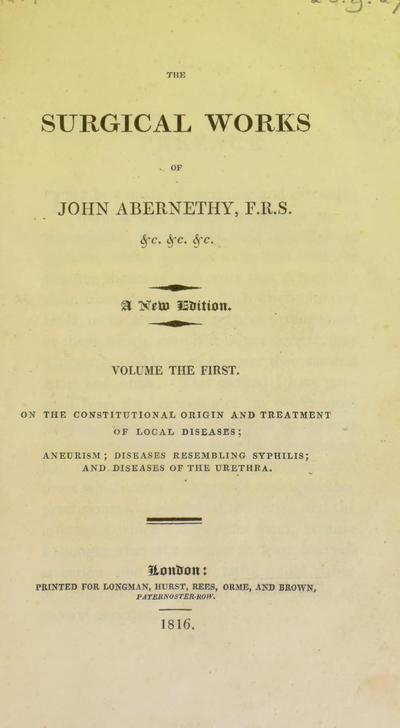 Abernethy's surgical works.