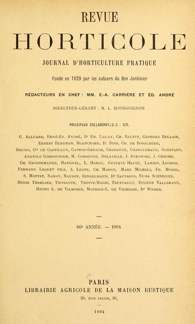 Revue horticole (Paris, France : 1829)