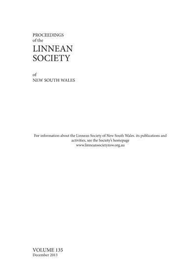 Proc. Linn. Soc. N.S.W.