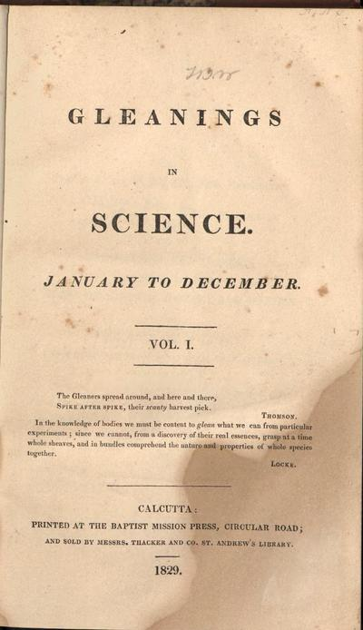 Gleanings in science.