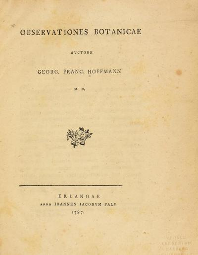 Dissertatio medica sistens observationes botanicas.