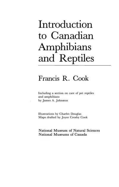 Introduction aux amphibiens et reptiles du Canada /