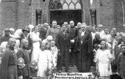 Lietuvos Respublikos/Prezidentas A.Smetona. 1927/Biržuose
