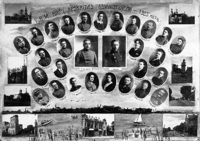 V.R.M. Biržų Apskrities Administracija - 1925 metų/Fotog. P.Ločeris.
