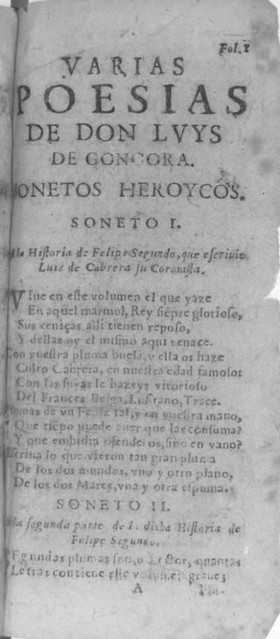Todas las obras de don Luys de Gongora : en varios poemas ...