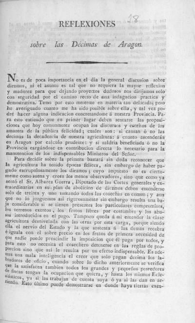 Reflexiones sobre las décimas de Aragon