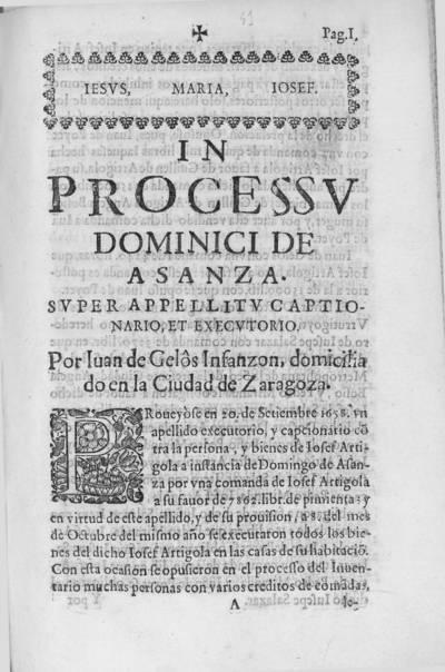 In processu dominici de Asanza, super apellitu captionario et executorio
