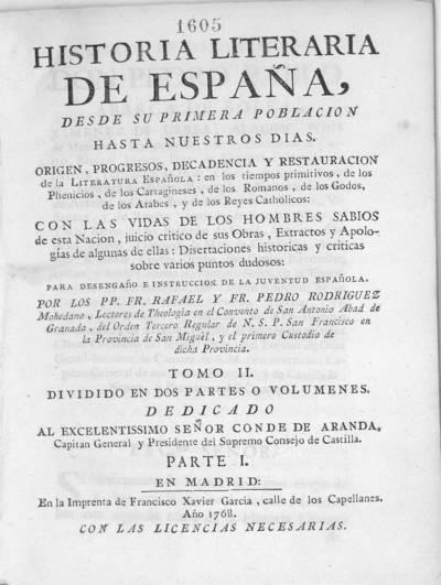 Historia literaria de España desde su primera población hasta nuestros dias ...