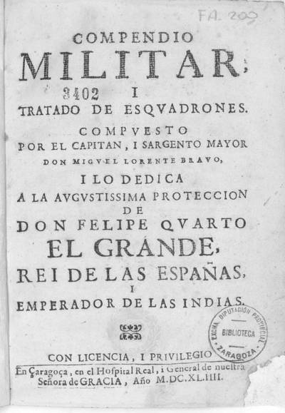Compendio militar, i tratado de esquadrones