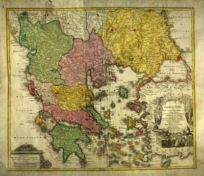Græcia Nova et Mare Aegeum s[ive] Archipelagus in qua Mappa Macedonia, Albania, Epirus, Thessalia et Morea [map] cum circumjacentibus Insulis Corcyra, Cephalonia, Zacynthos, Stalimene, Metelino, Chios, distinctæ exhibentur, opera et sumtibus Tobiæ Conradi Lotteri, geographi : Augustæ Vindel. Cum Grat[ia] et Pr[vilegio] S. R. I. Vicariatus, in part[ibus] Rheni, Sveviæ, et Juris Franconici.