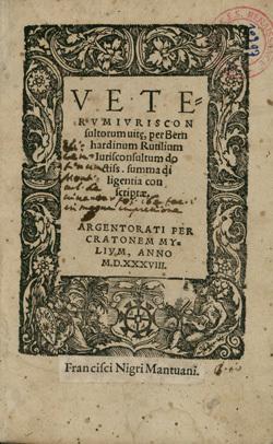 Veterum iurisconsultorum vitae