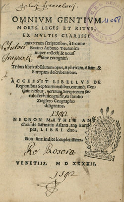 Omnium gentium mores, leges, et ritus
