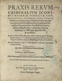 Praxis rerum criminalium iconibus materiae subiectae conuenientibus