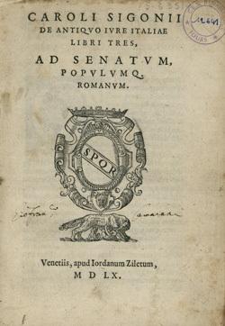 De antiquo iure Italiae libri tres