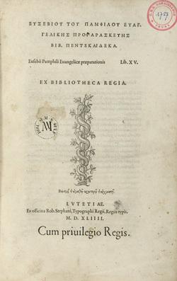 Euangelicae praeparationis Lib. XV