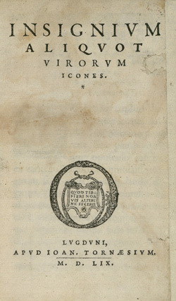 Insignium aliquot virorum icones.