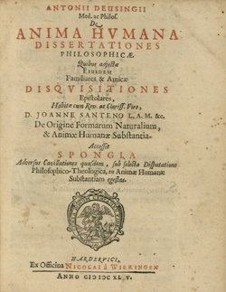 De anima humana dissertationes philosophicae