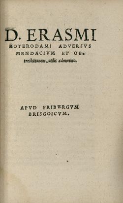 Adversus Mendacium et obtrectationem, utilis admonitio
