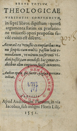 Breve Totius Theologicae veritatis compendium