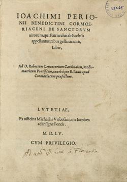 De sanctorum uirorum, qui Patriarchae ab Ecclesia appellantur, rebus gestis ac uitis, Liber