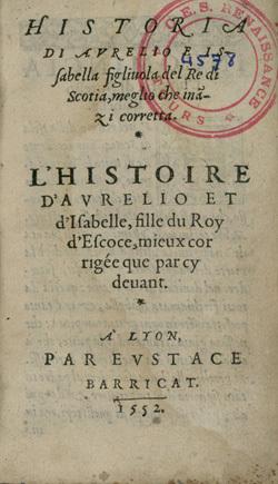 Historia di Aurelio e Issabella / L'Histoire d'Aurelio et d'Isabelle