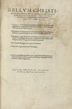 Bellum Christianorum principium, praecipue Gallorum, contra Saracenos