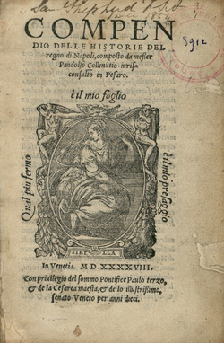 Compendio delle historie del regno di Napoli.