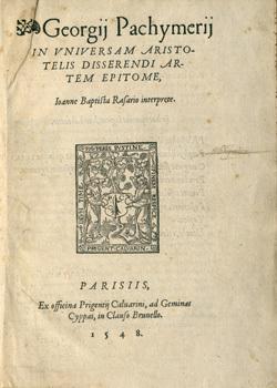 In Universam Aristotelis disserendi artem epitome