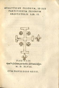 Analyticon priorum, id est partitionum priorum Aristotelis lib. II
