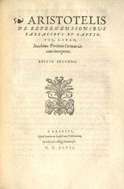 Aristotelis De reprehensionibus fallacibus et captiosis, liber