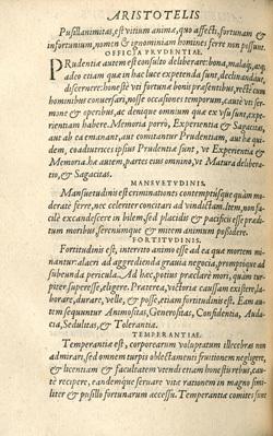 Aristotelis de Virtutibus Lib.