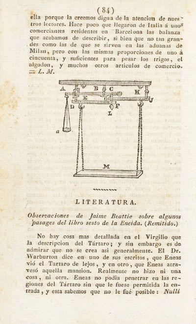 Observaciones de Jaime Beattie sobre algunos pasages del libro sesto de la Eneida