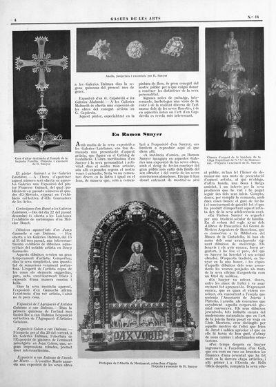 Cimera d'argent de la bandera de la Lliga Espiritual de N.ª S.ª de Montserrat. Porjecte i execució de R. Sunyer