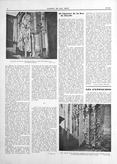 Altre aspectes de les arcuacions amagades per un macís de mur construït dins les arcades del Claustre de la seu vella de Lleyda