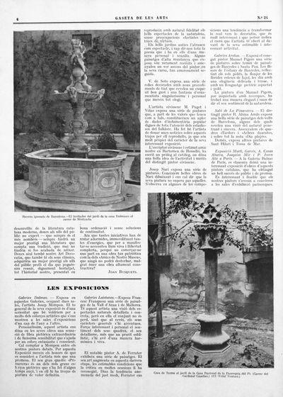 Creu de Terme al jardí de la Casa Rectoral de la Parroquia del Pi (Carrer del Cardenal Casañas)