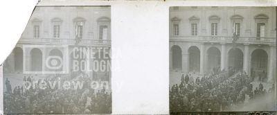 Prima Guerra Mondiale. Folla di persone