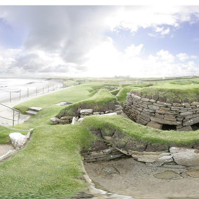 Panorama Movie of House 3, Skara Brae