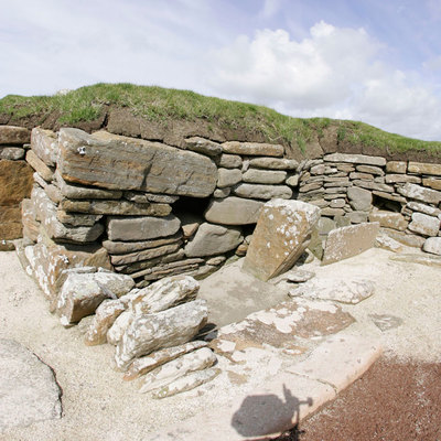 Panoramic Photography of House 4, Skara Brae