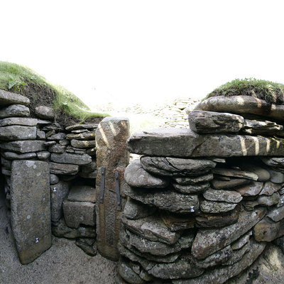 Panorama Movie of link path 6-7, Skara Brae