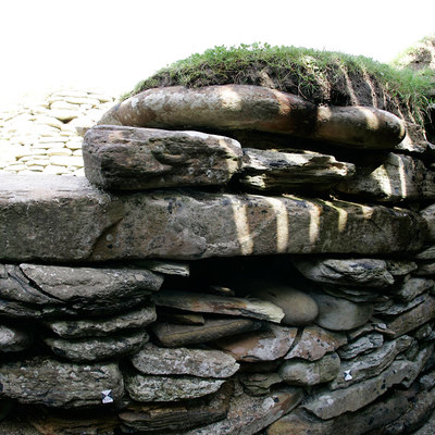 Panoramic Photography of link path 6-7, Skara Brae