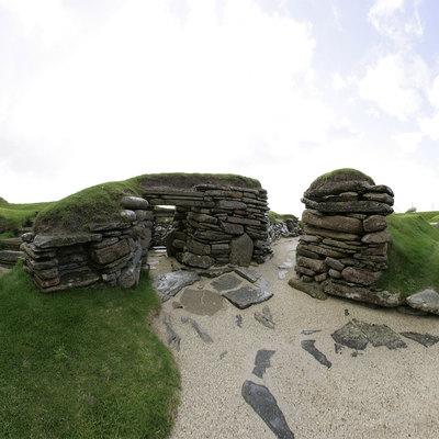 Panorama Movie of the Marketplace, Skara Brae