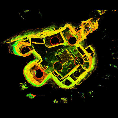 LiDAR Scan of House 2, Skara Brae
